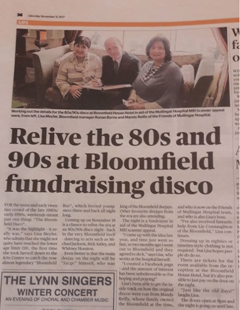 80 and 90s disco fundraiser