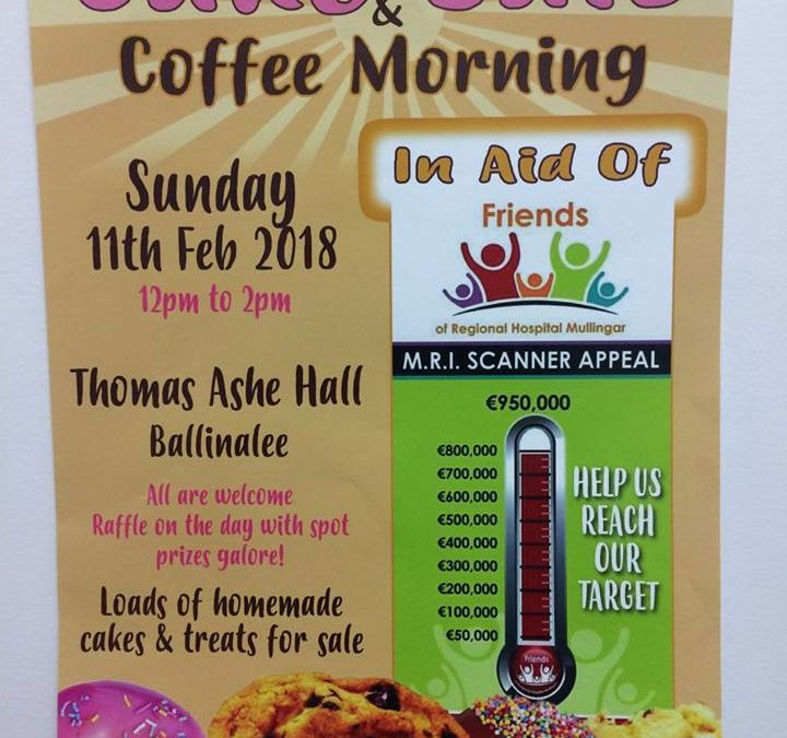 Cake Sale and Coffee Morning in Ballinalee  -11th Feb