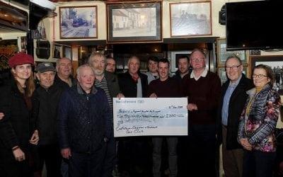 Castletown Geoghan & District Gun Club presenting a cheque of €2,300