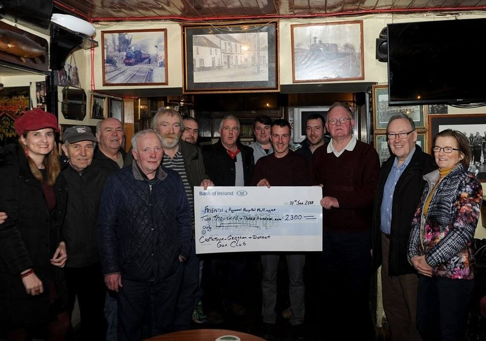 Castletown Geoghan & District Gun Club presenting a cheque of €2,300