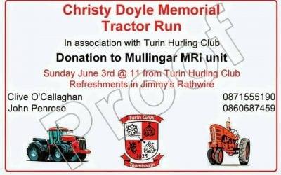 Christy Doyle Memorial Tractor Run