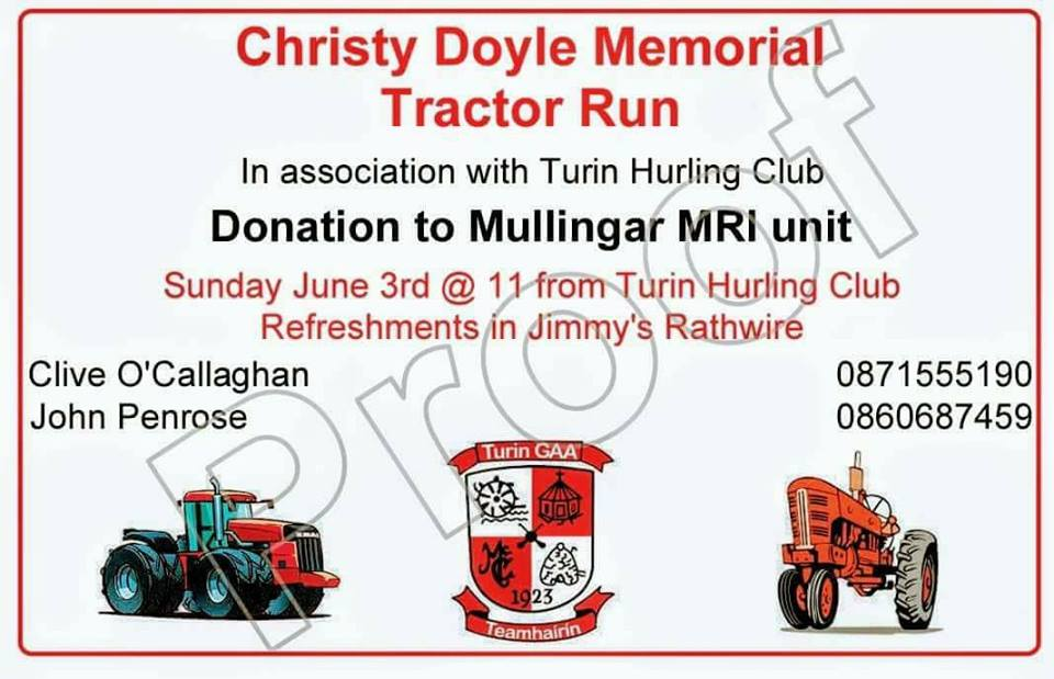 Christy Doyle Memorial Tractor Run