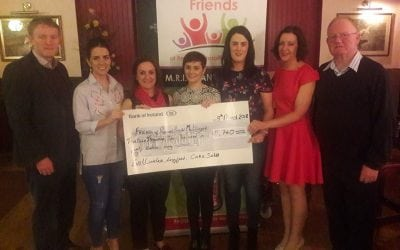 Presentation of €13,740 from the Cake Sale in Ballinalee Longford